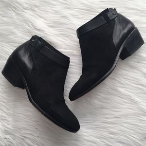 Madewell Black Charley Collar Stud Leather Booties